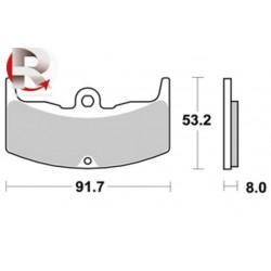 Plaquettes de freins lmp 152 AP RACING Standard Organique Avant/Arrière