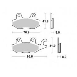 Plaquettes de freins AP RACING lmp 238 or OFF-ROAD MX..