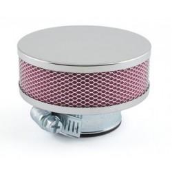 Filtre à air D.28-35mm cylindrique Extra plat droit Chromé