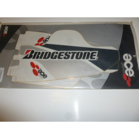 kit deco PF - ECE bas de fourche pour Yamaha YZF 250-450 année 2005-2007 blanc