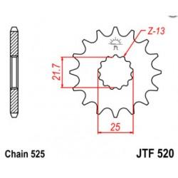Pignon acier 14 dents JT Sprockets chaîne 525 Suzuki SV650N/SV650S