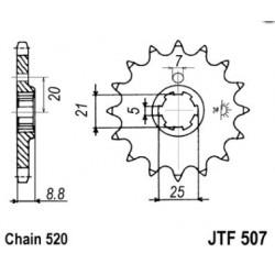 Pignon acier 13 dents JT Sprockets chaîne 520 Husqvarna CR250