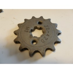 Pignon dirt bike chaine 420 - Ø17MM 14 DENTS