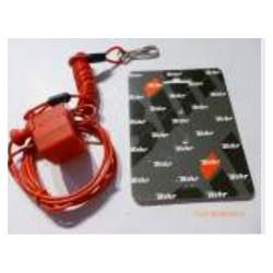 Coupe contact coupe circuit rouge compétition pour quad et jet.