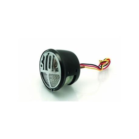 Feu arrière LED homologué clair Bihr Dum-Dum noir