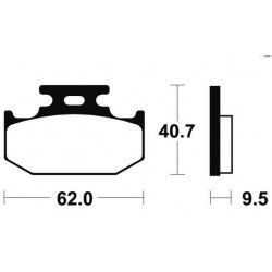 Plaquettes de frein Bendix MO148 Métal fritté