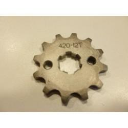 Pignon dirt bike chaine 420 - Ø17MM 12 dents