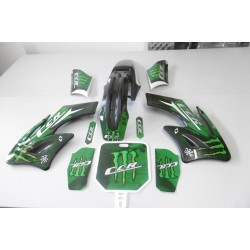 kit plastique et kit deco AGB 27 pour dirt bike 125 cc CCR