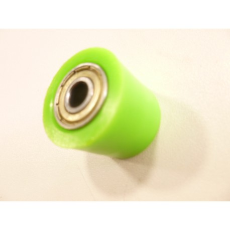 Roulette de chaine 8 mm verte dirt bike pit bike cross mini moto