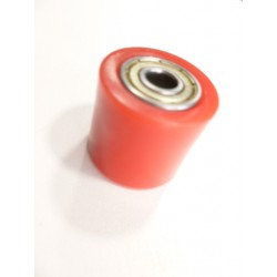 Roulette de chaine 8 mm rouge dirt bike pit bike cross mini moto