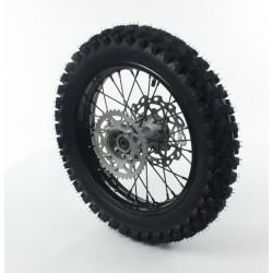 Roue Arriere 14 acier avec pneu YUANXING noire axe15 apollo