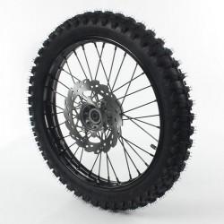 Roue avant 17 acier axe 15 avec pneu YUANXING Noir