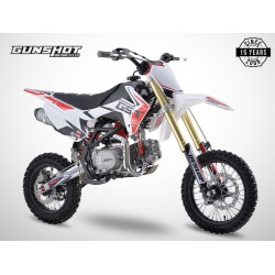 Pit Bike GUNSHOT 125 FX - 14/12 - Blanc - 2021 DIRT BIKE MINI CROSS