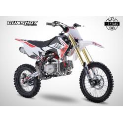 Pit Bike GUNSHOT 125 FX - 17/14 - Blanc - 2021 DIRT BIKE MINI CROSS