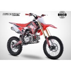 Pit Bike GUNSHOT 140 fX- 17/14 - Rouge - 2021 DIRT BIKE MINI CROSS