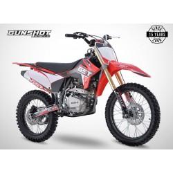 Moto cross GUNSHOT 250 MX-1 - Rouge - 2021 Tout Terrain Enduro