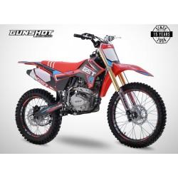 Moto cross GUNSHOT 250 MX-2 - Rouge - 2021 Tout Terrain Enduro